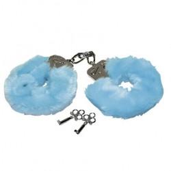 Белезници със син пух Love cuffs