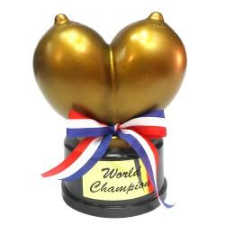 Награда с форма на гърди World Champion